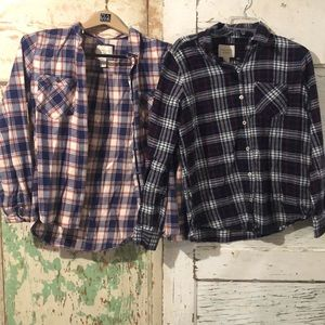 Bundle of TWO flannels from Forever 21 size large